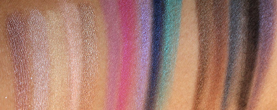 urban decay 15-year anniversary eyeshadow collection swatches all