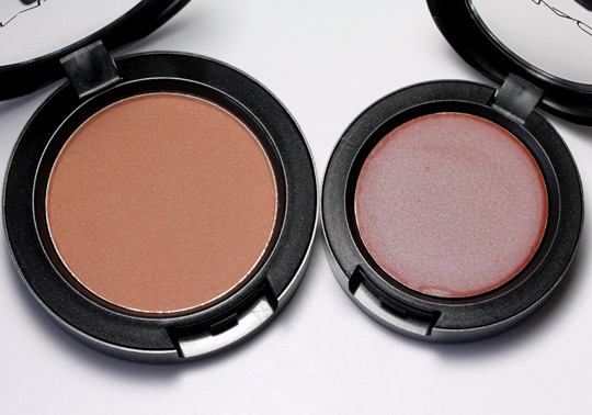mac Equilibrium Satin Powder Blush Take Root Frost Cream Color Base