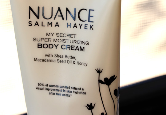 nuance salma hayek body cream