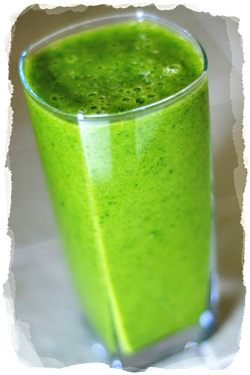 A spinach smoothie