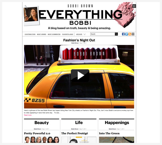 Bobbi Brown's new blog