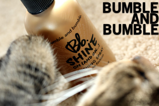bumble and bumble shine on finishing spray