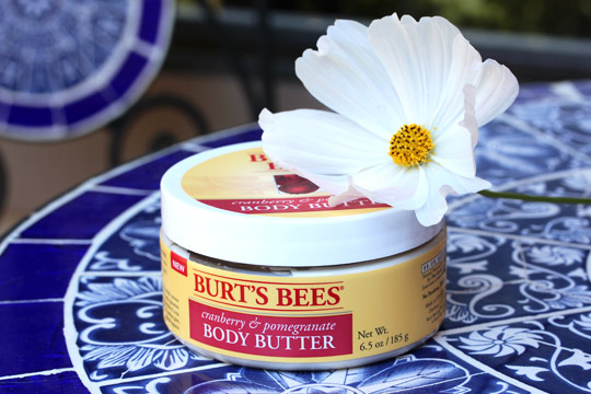 burts bees cranberry pomegranate body butter (3)