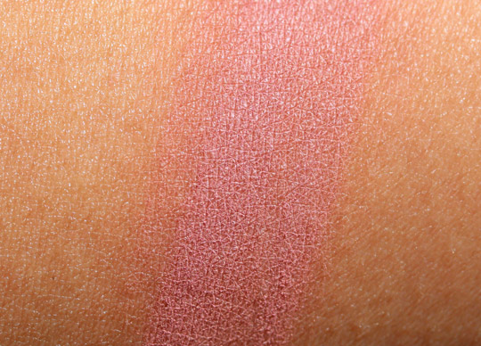 mac mocha blush swatch