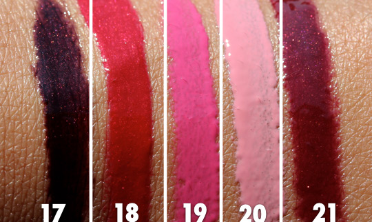 mac style driven lipglass swatches