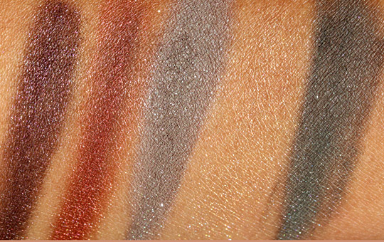 bare escentuals bare minerals oh la luxe swatches eyeshadows