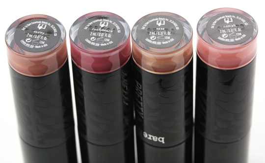 bare minerals pretty amazing lip collection tubes