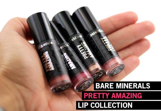 bare minerals pretty amazing lip collection