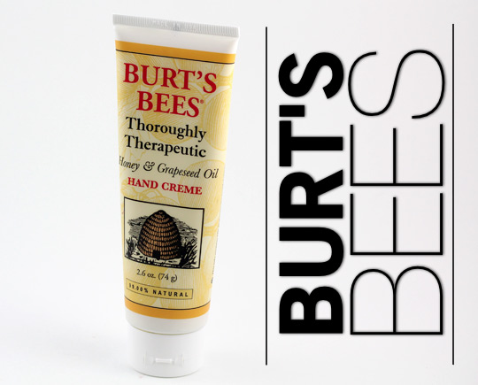 burts bees thoroughly therapeutic honey grapeseed hand creme ingredients