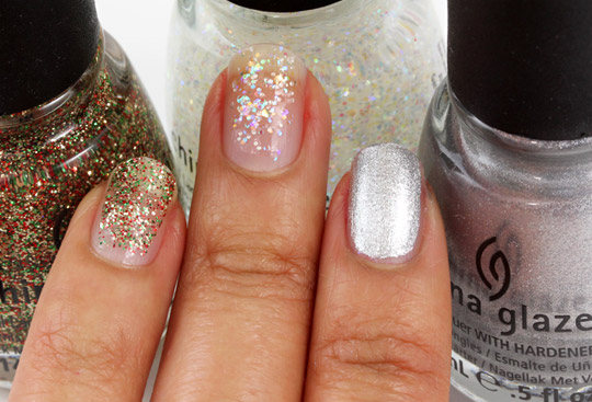 china glaze twinkle lights snow globe icicle