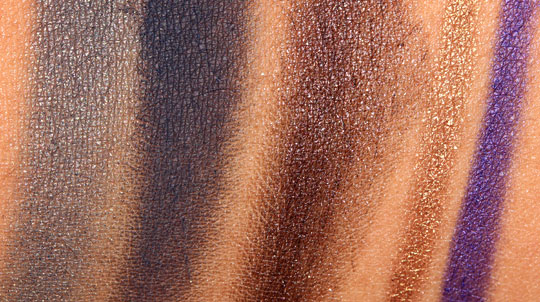 nars holiday 2011 swatches eye products