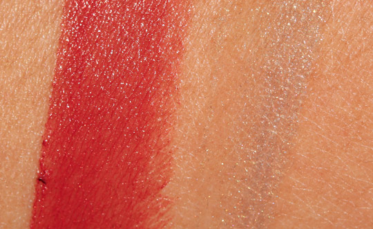 nars holiday 2011 swatches lip products