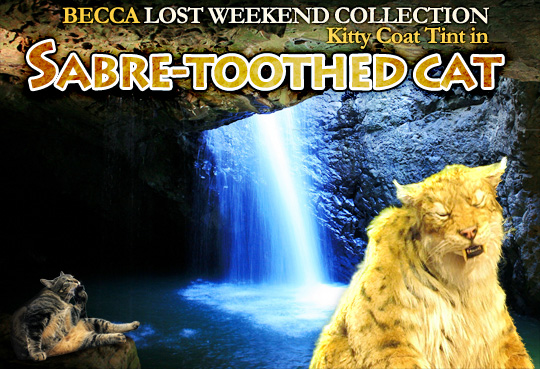 Tabs for the Becca Lost Weekend Collection Coat Tint in Sabre-Tooth Cat