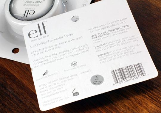 elf nail polish remover pads (3)