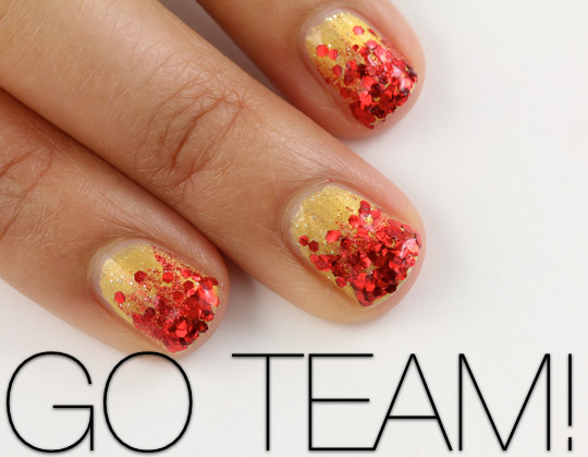 Give yourself a glitter ombre manicure to support your team on i solutioingenieria Images