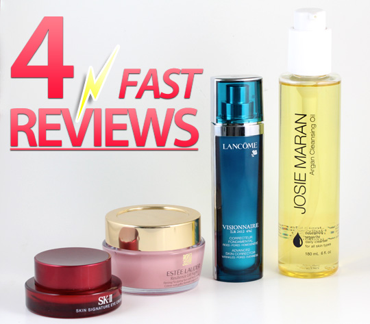 4 Skincare Product Reviews