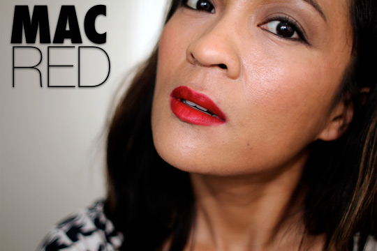 mac red lipstick