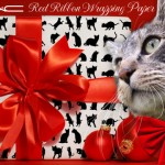 Tabs for MAC Red Ribbon Wrapping Paper