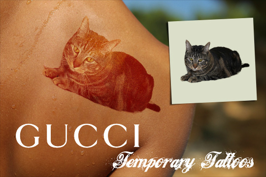 Tabs for Gucci Temporary Tattoos