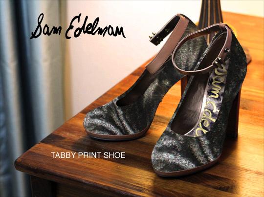 Tabs for the Sam Edelman Tabby Print Shoe