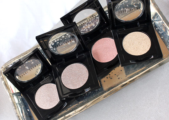 Bobbi Brown Silver Moon Mica Ballet Sunlight eyeshadows