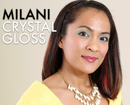 Milani Crystal Gloss raspberry