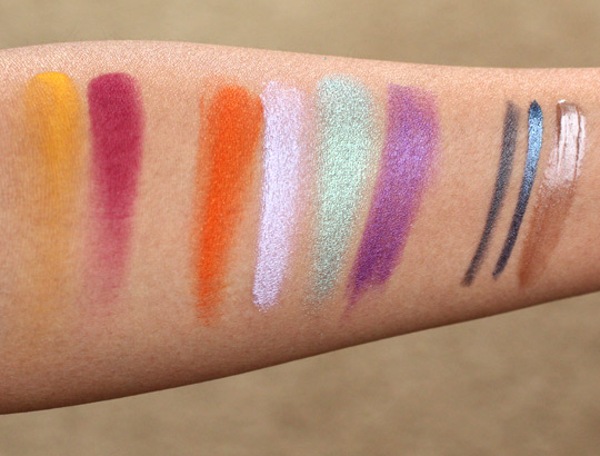 make up for ever spring 2012 pantone color report swatches
