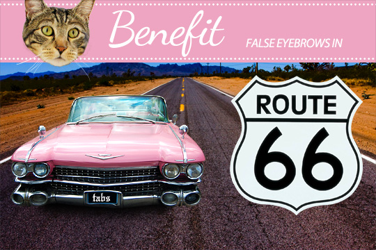 Tabs for Benefit False Eyebrows in Route 66