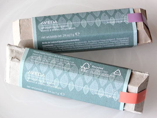 aveda sea blossoms nourish-ment rehydrating lip glaze boxes