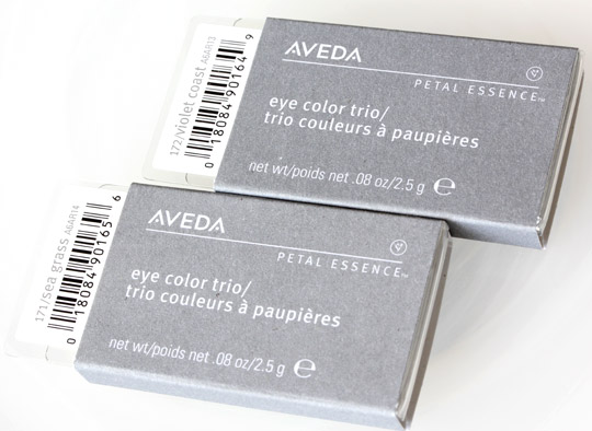 aveda sea blossoms petal essence eye color trios