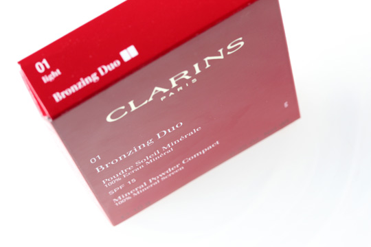 clarins bronzing duo 01 box