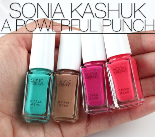 sonia kashuk a powerful punch mini nail colour set