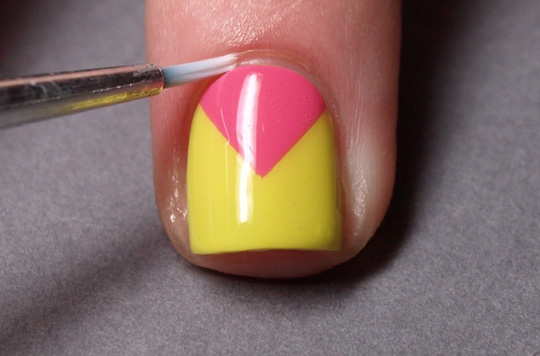 Chevron nails: step 6
