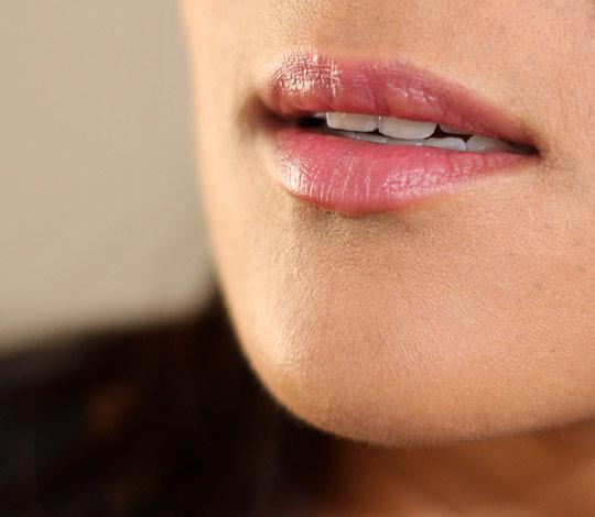 becca valentina lip closeup