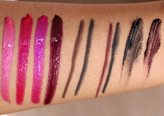 estee lauder sequins swatches