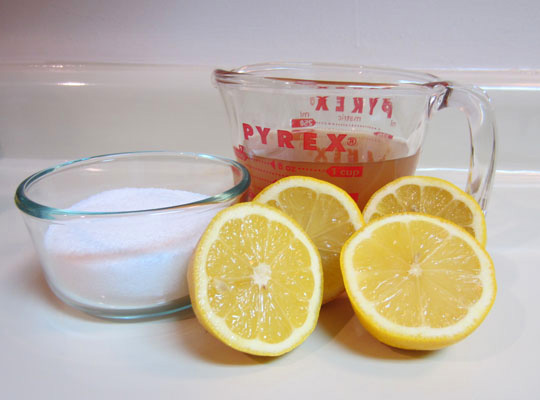 Lemon foot soak