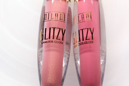 milani glitzy glamour gloss in high status and show stopper