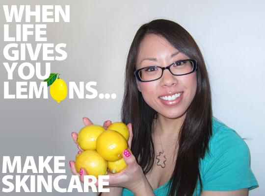 DIY Lemon-based skincare