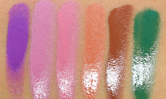 obsessive compulsive cosmetics the garden swatches lip tars