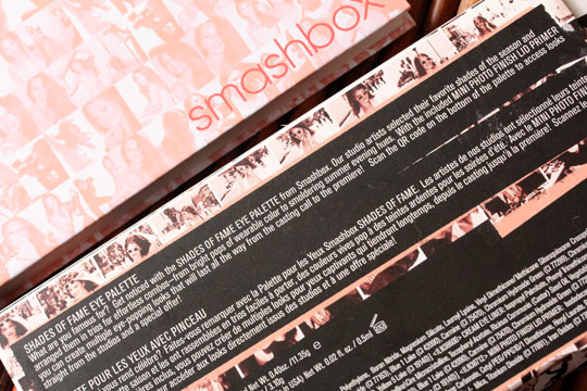 smashbox shades of fame eye palette 6