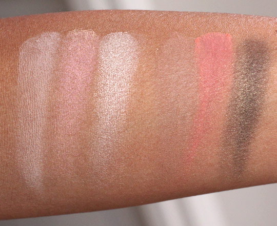 smashbox shades of fame eye palette swatches 1