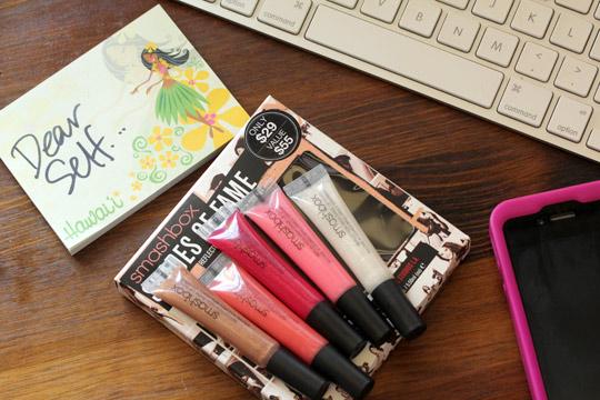 smashbox shades of fame reflection high shine lip gloss set