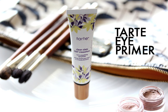 Tarte Clean Slate 360 Creaseless 12-Hour Smoothing Eye Primer Makes Eye Makeup Stick Around