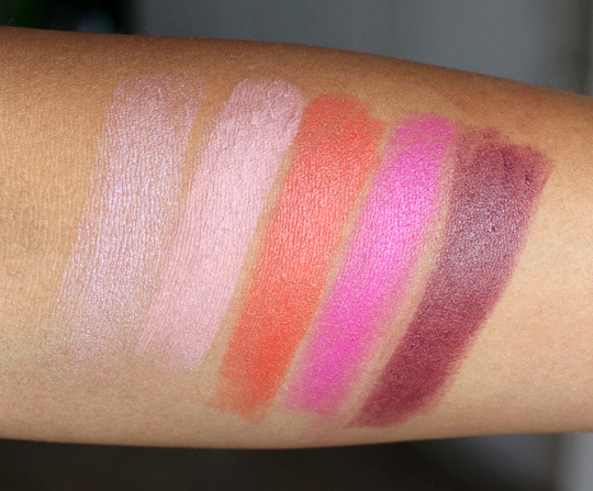 mac beth ditto pro longwear lipcreme swatches