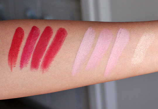 mac ruffian lipstick swatches
