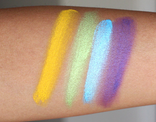 make up for ever aqua cream swatches