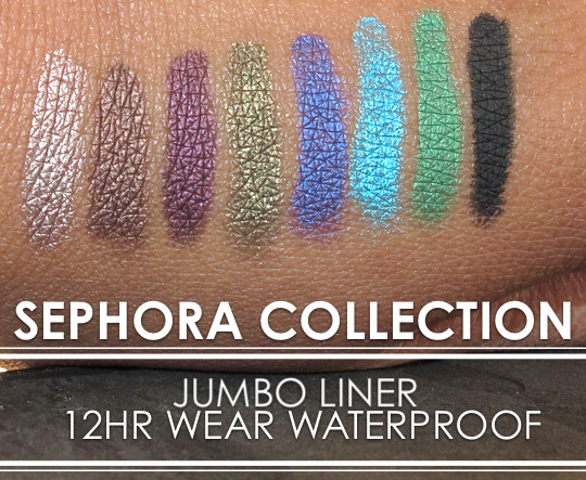 sephora collection waterproof jumbo eyeliner swatches