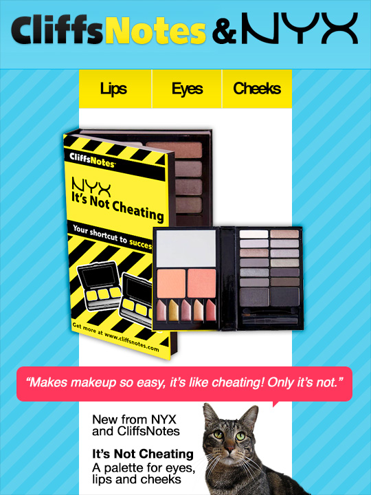 Tabs for the NYX CliffsNotes Palette