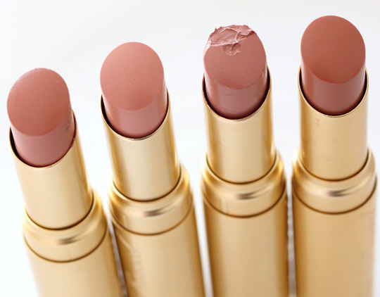 From the left: Naughty Nude, Naked Dolly, Nude Beach and In the Buff