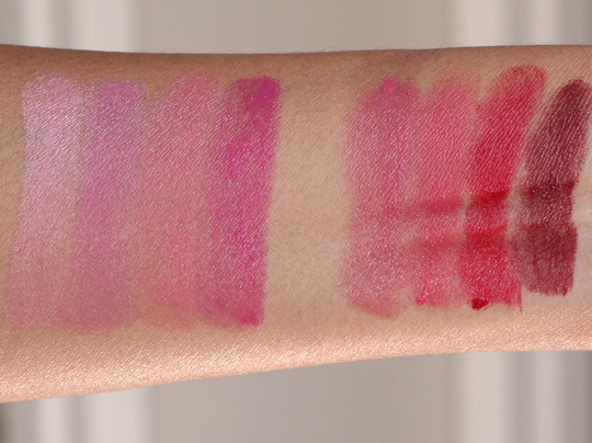too faced la creme swatches